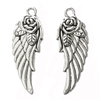 floral wings, bird wings, antique silver, 09134, Steampunk Art, vintage jewelry supplies, jewelry making supplies, jewelry parts, B'sue Boutiques, silver wings, silver, wings, floral, roses, rose, bird