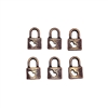 Mini Heart Locks, charms, 09162, lock charms, charm, heart, lock, antique copper, nickel free, set of 6, B'sue Boutiques, jewelry supplies, jewelry making, jewelry parts, findings