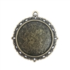 Lacy Edge Pendant Mount, bronze, 09167, mount, jewelry mount, jewelry supplies, B'sue Boutiques, 25mm mount, bronze finish, pendant, jewelry making, jewelry parts, round mount, zinc alloy, charm
