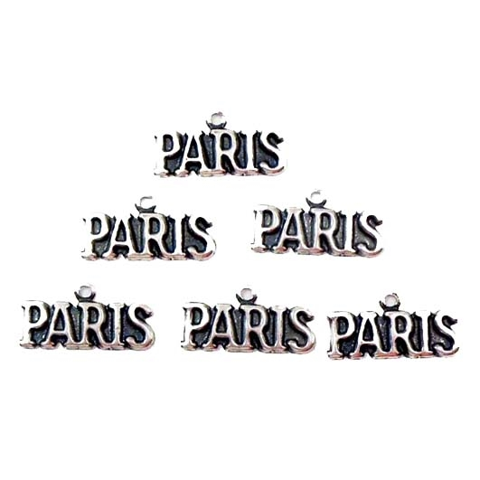 brass charms, Paris charms, French charms, silverware silver, antique silver, silver plate charms, jewelry making supplies, vintage jewelry supplies, bsue boutiques, nickel free, US made jewelry supplies,