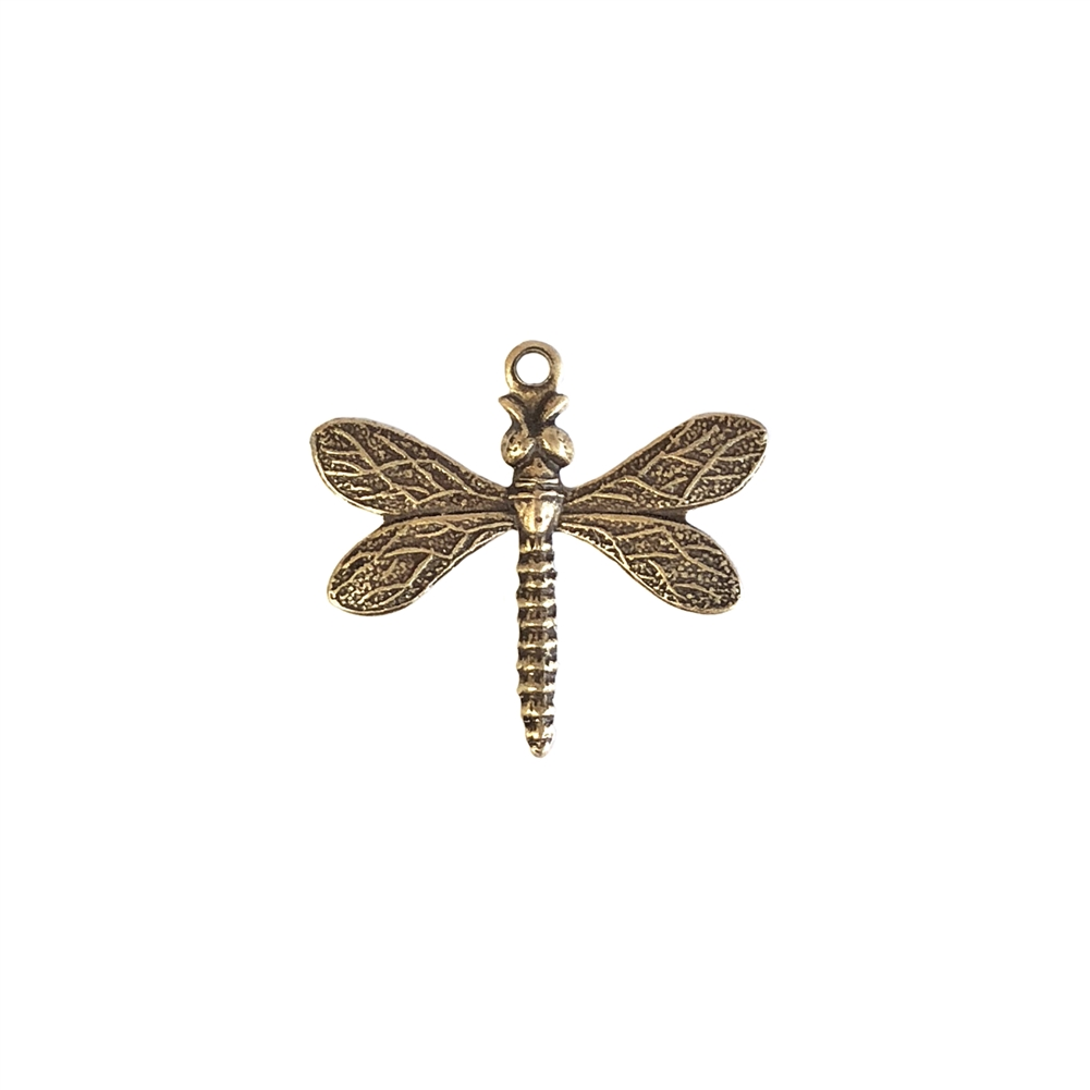 dragonfly charm, brass ox, antique brass, dragonfly, charm, brass charm, US made, nickel free, 20x21mm, bug charm, jewelry making, dragonfly jewelry, vintage supplies, jewelry supplies, jewelry findings, brass stamping, B'sue Boutiques, 09404