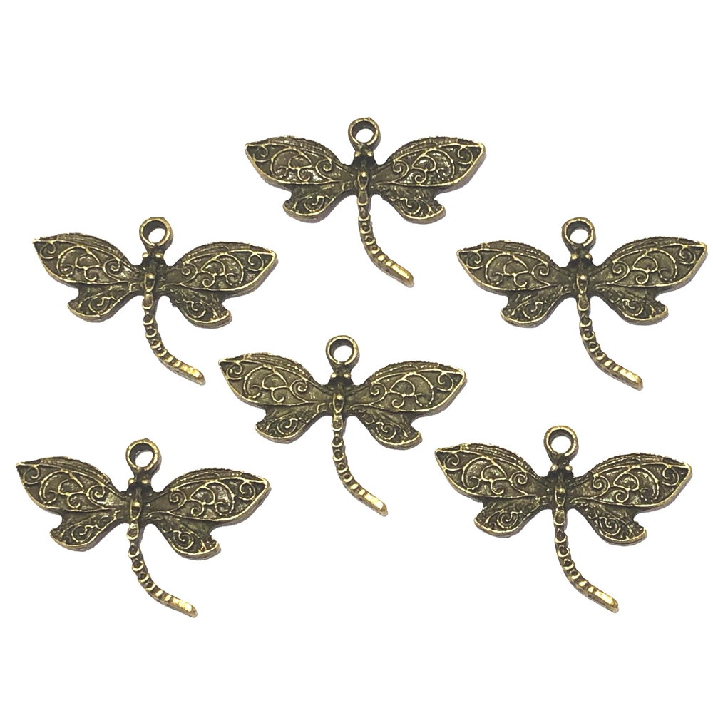 Winged Dragonfly, Dragonfly pendant, pendant, charm, bugs, insects, bug, insect charm, Antique Bronze, 09539, 20 x 27mm, Dragonfly, Cast Zinc Alloy, Jewelry Findings, B'sue Boutiques, Vintage Supplies, Jewelry Supplies, Parts, Jewelry