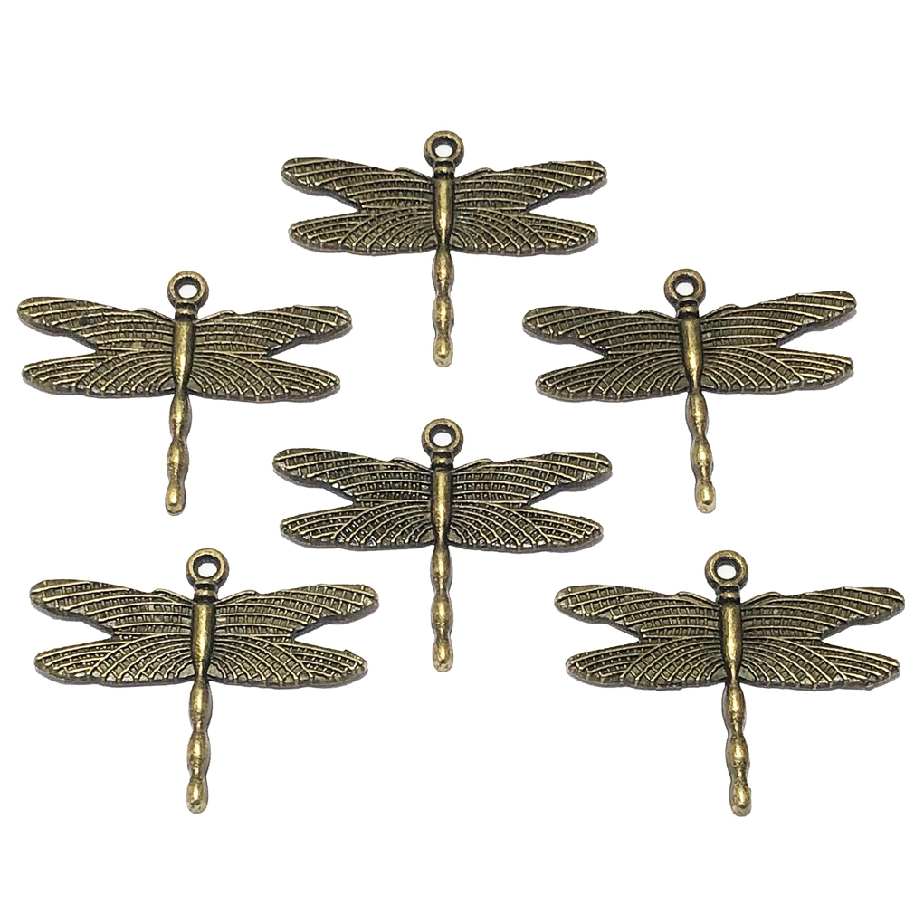 Winged Dragonfly, Dragonfly pendant, pendant, charm, bugs, insects, bug, insect charm, Antique Bronze, 09541, 28 x 35mm, Dragonfly, Cast Zinc Alloy, Jewelry Findings, B'sue Boutiques, Vintage Supplies, Jewelry Supplies, Parts, Jewelry