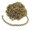 circle link chain, patina brass, 01038, B'sue Boutiques, bracelet chain, necklace chain, vintage jewelry supplies, jewelry making, beading supplies, antique brass links, 7mm, unplated brass chain, charm bracelet