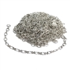 plated chain, chain, oval link, bright silver, 3x2mm, delicate chain, 01057, B'sue Boutiques, jewelry supplies, findings, jewelry making, infinity link