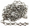 brass chain, silver plate chain, bead and link chain, imitation rhodium chain, 0114, B'sue Boutiques, bracelet chain, necklace chain, antique silver chain, nickel free, US made, vintage jewellery supplies, jewelry making,  beading supplies