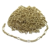 jewelry chain, figaro chain, gold plated, 01154, chain, delicate chain, jewelry supplies, gold chain, plated chain, B'sue Boutiques