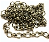 brass chain, antique brass chain,bead and link chain, jewelry chain, 0117, B'sue Boutiques, nickel free, US made, vintage jewellery supplies, brass ox chain, bracelet chain, necklace chain, beading supplies, brass jewelry findings, charm bracelet chain