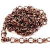 copper plated, copper chain, vintage, B'sue Boutiques, nickel free, US Made, brass jewelry parts, vintage supplies, jewelry chain, copper ox, antique copper, brass jewelry findings, beading chain, bead and link chain, chain supplies, 6x7mm links, 0118