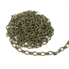 brass chain, antique brass chain, cable chain, figaro chain,  jewelry chain, 01186, B'sue Boutiques, nickel free, US made, vintage jewelry supplies, jewelry making, bracelet chain, necklace chain, beading supplies, brass jewelry findings, brass ox chain