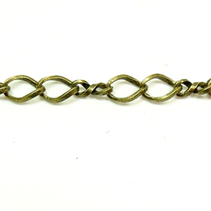 brass chain, cable chain, vintage supplies