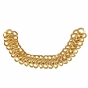 classic gold designer chain, classic gold, gold chain, chain, gold, 6 inches, 20x10mm links, designer chain, textured links, bracelet chain, special purchase, jewelry chain, jewelry making, vintage supplies, jewelry supplies, jewelry findings, 01400