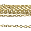gold plated oval chain, peanut links, 01475, oval chain, gold chain, delicate chain, B'sue Boutiques, jewelry supplies, jewelry making, findings