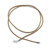 leather cord, necklace, chain, 01816, necklace with clasp, finished necklace, leather, cord necklace, tan, tan leather, sterling silver clasp, silver, B'sue Boutiques, jewelry making supplies, 16 inches