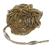 Vintage 1928 Jewelry Chain, Filigree chain, vintage, vintage jewelry parts, vintage 1928, scroll chain, filigree chain, antique brass, brass patina, old brass, B'sue Boutiques, limited edition, 15x5mm links chain, 01928