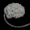 cable chain, silver-plated, 3x4mm links, silver-plated chain, silver-plated cable chain, chain, chain supplies, brass chain, jewelry making, vintage supplies, jewelry supplies, nickel-free, oval link chain, jewelry cable chain, US-made, 02387