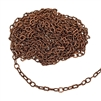 peanut cable chain, antique copper, cable chain, peanut chain, chain, jewelry chain, oval links, peanut links, 5x3mm links, nickel-free, US-made, antique copper chain, necklace chain, jewelry supplies, chain supplies, jewelry making, 02392