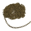 peanut cable chain, antique brass, cable chain, peanut chain, chain, jewelry chain, oval links, peanut links, 5x3mm links, nickel-free, US-made, antique brass chain, necklace chain, jewelry supplies, chain supplies, jewelry making, vintage supplies, 02394