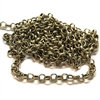 brass chain, jewelry chain, rolo chain, 02622, brass ox rolo chain, B'sue Boutiques, nickel free chain, US Made chain,vintage jewellery supplies, jewelry making supplies, bracelet chain, necklace chain, antique brass