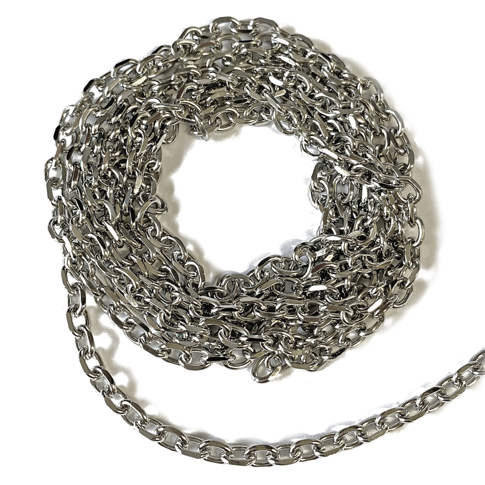 stainless steal cable chain, cable chain, chain, jewelry chain, silver tone chain, stainless steal chain, B'sue Boutiques, US-made, vintage supplies, jewelry supplies, jewelry making, bracelet chain, necklace chain, chain supplies, jewelry findings, 02627