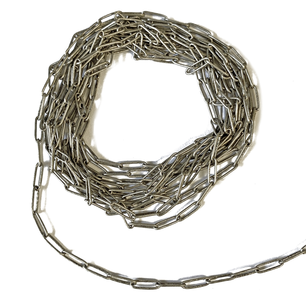 paper clip chain, antique silver, chain, antique silver chain, paper clip antique silver chain, paper clip style chain, jewelry chain, paper clip, brass chain, jewelry making, vintage supplies, jewelry supplies, 2x7mm links, delicate chain, 02633