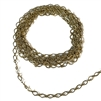 antique brass oval link chain, oval link chain, link chain, chain, jewelry chain, antique brass chain, diamond design chain, notched cable chain, brass chain, US-made, nickel free, jewelry making, chain supplies, bracelet chain, vintage supplies, 02634