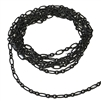 oval ink chain, matte black, chain, jewelry chain, matte black chain, jewelry making, vintage supplies, brass chain, jewelry supplies, cable chain, chain supplies, jewelry findings, oval chain, black chain, delicate chain, 3x6mm links, 02727