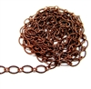 notched cable chain, antique copper, oval chain, brass chain, 03354, B'sue Boutiques, nickel free, us made chain, jewelry chain, jewelry making chain, bracelet chain, necklace chain, copper chain, antique copper chain, jewelry supplies, jewelry findings