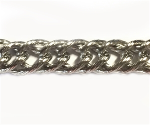 jewelry chain, double link curb chain, 04043, antique silver, B'sue Boutiques, nickel free, US made, brass jewelry supplies, vintage jewelry supplies, beading supplies, bracelet chain, necklace chain