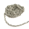 vintage rope chain, jewelry chain, large link chain, pattern chain, antique silver, imitation rhodium chain, matte silver, matte silver chain, matte silver rope chain, rope chain, chain, textured chain, vintage supplies, B'sue Boutiques, 04085