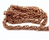 vintage rope chain, dark copper, 04137, rope chain, gingerbread look, us made, nickel free, chain jewelry, B'sue Boutiques, vintage supplies, jewelry supplies, jewelry making, brass, antique copper, jewelry findings