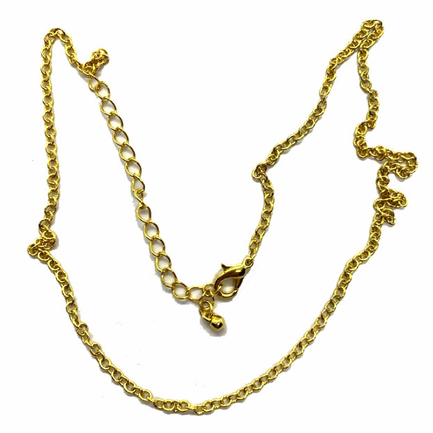 complete chain necklace, goldtone, 18 inches, 04785, gold tone, gold chain, lobster claw clasp, 18 inch chain, 3 inch extender, B'sue Boutiques, necklace chain