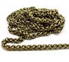 heavy wheat chain, 04794, wheat chain, raw brass chain, us made, nickel free, chain jewelry, b'sue boutiques, vintage supplies, jewelry supplies, jewelry making, brass, jewelry findings