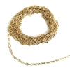 brass chain, gold plate chain, figure 8 chain, jewelry chain, 04927, B'sue Boutiques, nickel free chain, US made chain, unplated chain, necklace chain, bracelet chain, jewelry making chain, antique gold chain, vintage jewellery supplies, vintage chain,