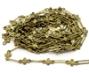 vintage floral paper clip chain, jewelry chain, 05276, dark patina brass, vintage jewelry supplies, jewelry making supplies,