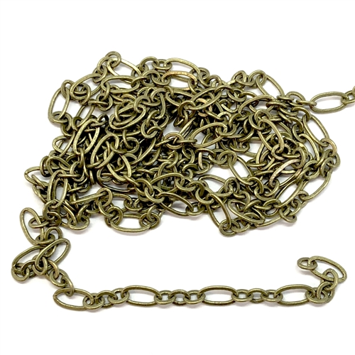 jewelry chain, oval link chain, antique brass, jewelry chain, oval link chain, 05819, jewelry making supplies, vintage jewelry supplies, brass chain, antique brass chain,