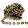 brass jewelry chain, cable chain, 05974, rolo chain, antique brass, beading supplies, brass chain, brass jewelry supplies, vintage jewellery supplies, B'sue Boutiques, nickel free, US made, oval link chain