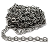 brass jewelry chain, cable chain, 05975, rolo chain, antique silver, beading supplies, brass chain, brass jewelry supplies, vintage jewellery supplies, B'sue Boutiques, nickel free, US made, oval link chain