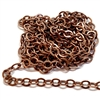 brass jewelry chain, cable chain, 05976, rolo chain, antique copper, beading supplies, brass chain, brass jewelry supplies, vintage jewellery supplies, B'sue Boutiques, nickel free, US made, oval link chain