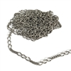 brass chain, figaro chain, antique silver, 06633, jewelry chain, vintage jewelry supplies jewelry making supplies, US made chain, nickel free chain, bsueboutiques, matte silver chain, figaro jewelry chain,