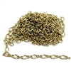 figure 8 chain, delicate chain, cable chain, 06642, B'sue Boutiques, nickel free chain, US made chain, jewelry chain, vintage jewellery supplies, bracelet chain, necklace chain, antique gold chain, twisted chain, antique gold