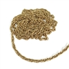 vintage rope chain, antique gold, rope chain, antique gold chain, gold chain, gold rope chain, oval, twisted rope chain, chain, US made,4mm wide, nickel free, B'sue Boutiques, vintage supplies, jewelry supplies, jewelry making, jewelry findings, 06862