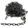 figure 8 chain, delicate chain, curb chain, 07062, B'sue Boutiques, nickel free chain, US made chain, jewelry chain, vintage jewellery supplies, bracelet chain, necklace chain, jet black chain, twisted chain, antique black