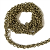 Brass Rolo Chain, Textured, Antique Brass, 07502, Brass Ox, large rolo chain, 6mm rolo chain, vintage jewelry supplies, jewelry making supplies, Bsue Boutiques, nickel free, US made, jewelry findings