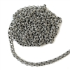 Line Rolo Textured Chain, Antique Silver, Rolo Chain, Textured Chain, Soldered, 5mm Links
