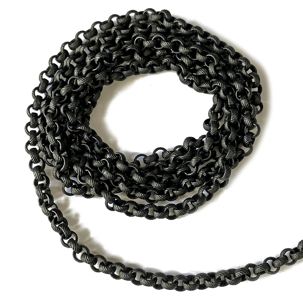 matte black chain, textured chain, 07508, chain, black chain, rolo chain, black rolo, matte black, B'sue Boutiques, jewelry supplies