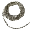 brass jewelry chain, cable chain, 07524, rolo chain, antique silver, beading supplies, brass chain, brass jewelry supplies, vintage jewellery supplies, B'sue Boutiques, nickel free, US made, oval link chain