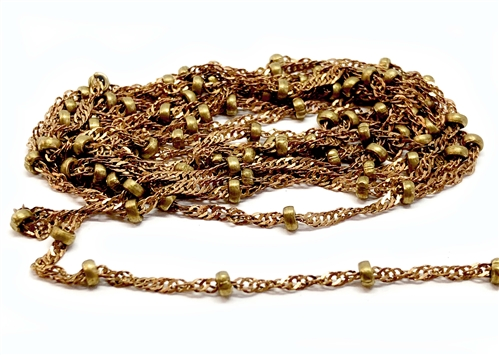 vintage chain, jewelry chain, brass chain, 07632, B'sue Boutiques, US made jewelry supplies, vintage jewellery supplies, brass chain, antique brass, chain findings, bead and twisted chain