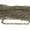 weathered copper figaro chain, green patina, brass chain, chain,  figaro chain, weathered copper chain, figaro, us made, nickel free, chain jewelry, b'sue boutiques, vintage supplies, jewelry supplies, jewelry making, brass, 5x11mm, 0766