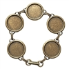 Bracelet Chain, Bezel Bracelets, Bra]ss Ox, 18mm, 7 Inches Long